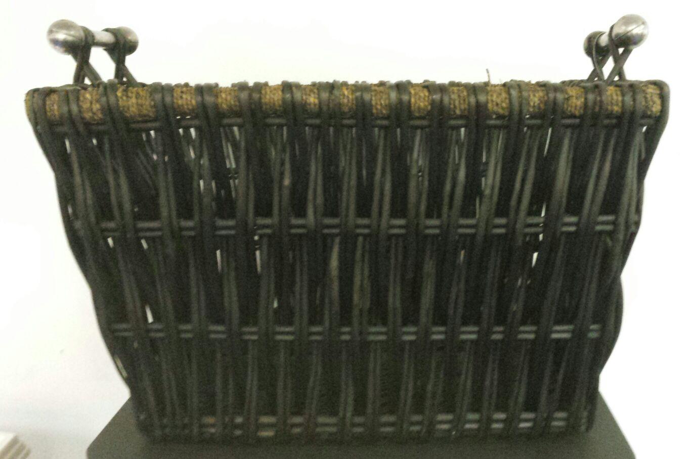 Dark Wicker Baskets With Handles : Dark wicker basket ryan stoves