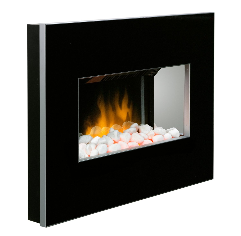 Dimplex Clova Black Wall Mounted Electric Fire Optiflame